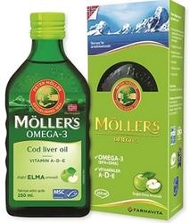 MOLLERS - MOLLERS OMEGA 3 BALIK YAĞI ŞURUBU ELMALI 250 ML