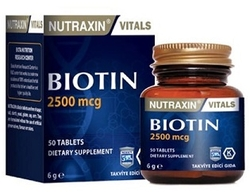NUTRAXIN - NUTRAXIN BIOTIN 2500 MCG 50 TABLET