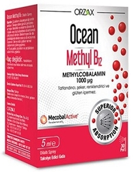 ORZAX - ORZAX OCEAN 1000 MG METHYL COBALAMIN B12 SPREY 5 ML