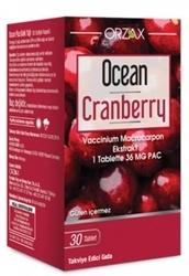 ORZAX - ORZAX OCEAN CRANBERRY 30 TABLET TAKVİYE EDİCİ GIDA