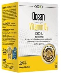 ORZAX - ORZAX OCEAN VİTAMİN D3 1000 IU SPREY 20 ML