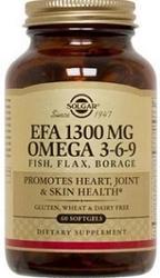SOLGAR - SOLGAR EFA 1300MG OMEGA 3-6-9 60 TABLET