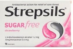 STREPSILS - STREPSİLS ŞEKERSİZ ÇİLEK AROMALI PASTİL 16 ADET