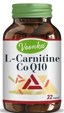 VOONKA - VOONKA L-CARNITINE COQ10 TAKVİYE EDİCİ GIDA 32 KAPSÜL